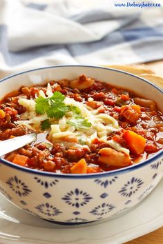 Crock Pot Vegetarian Chili a deliciously easy and healthy meal!