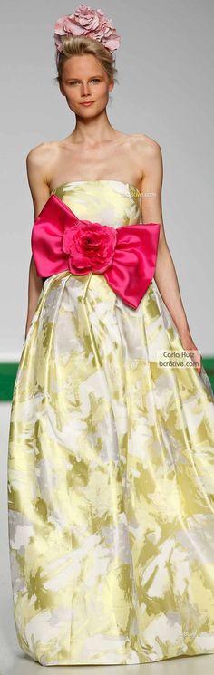 Gorgeous (minus the giant bow) Carla Ruiz Spring 2014 Bridal Couture