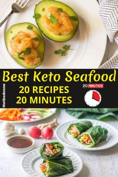 Healthy Keto Seafood Recipes -- Keto Seafood Recipes in Only 20 Minutes  - Try these delicious & mouth watering recipes for your next evening meal. #hotbodzone