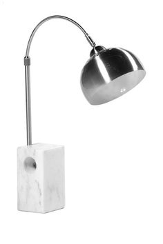 Sara White Marble Table Lamp by PANGEA/home on @HauteLook