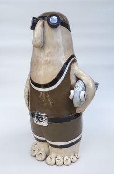 Ceramic Figures, Clay Figures, Ceramic Birds, Ceramic Pottery, Ceramic Sculpture Figurative, School Art Projects, Salt Dough, Diy Clay, Funny Art