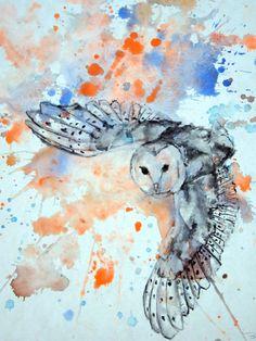 'Flying Barn Owl' by Isabelle Dillard