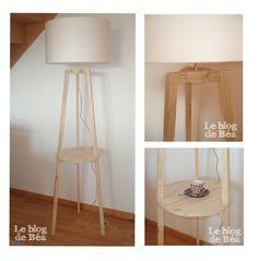 DIY : lampadaire trépied avec tablette