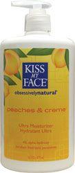 Kiss My Face  Peaches & Cream with AHA Moisturizer