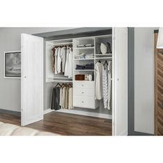 The best closet systems help you keep your items tidy and organized. We researched the best closet kits from top brands so you can pick the right one for you. Wood Closet Shelves, Closet Storage, Closet Organization, Elfa Closet, Wardrobe Organisation, Bedroom Storage, Glass Shelves, Closet Renovation, Closet Remodel