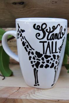darling stand tall giraffe mug Giraffe Mug, Giraffe Decor, Cute Giraffe, Hallway Pictures, Coffee Cups, Tea Cups, Giraffe Pictures, Coffee Tattoos, Trendy Home