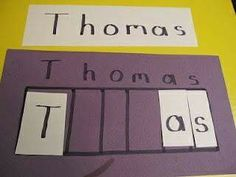 Create a name puzzle for your preschooler Teach Preschool Preschool Names, Preschool Literacy, Preschool Lessons, Learning Activities, Preschool Activities, Teach Preschool, Teaching Kindergarten, Daycare Names, Sunday Activities