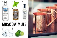 1 - one oz vodka 2 - fresh mint 3 - half cup ginger beer 4 - one lime slice 5 - ice 6 - one tsp. sugar syrup In a copper mug (get yours here), pour vodka over ice. Add sugar syrup & lime juice. Top...