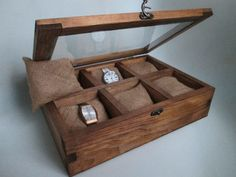 Watch Box Watch Box Wood Valentines Day Men Gift by WoodWorksSM
