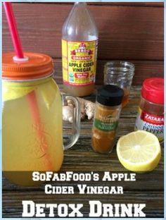 Apple Cider Vinegar and Lemon Detox Drink - Detox Soup Cabbage #Apple #Cider #Vinegar #and #Lemon #Detox #Drink #Detox #Soup #Cabbage Week Detox Diet, Detox Cleanse For Weight Loss, Detox Diet Drinks, Detox Diet Plan, Cleanse Diet, Stomach Cleanse, Detox Juices, Juice Cleanse, Vinegar Detox Drink