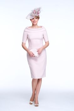 Mother of the Bride/ Groom Outfit - Special Occasion Wear - Bardot Collar s/s Dress - Joyce Young By Storm Joyce Young, Dresses For Work, Prom Dresses, Bride Dresses, Special Occasion Outfits, Occasion Wear, My Outfit, Groom Outfit, Outfit Ideas