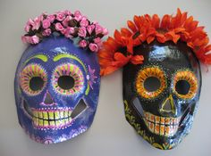 Hand Painted Paper Mache Masks