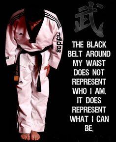 My black belt represents...