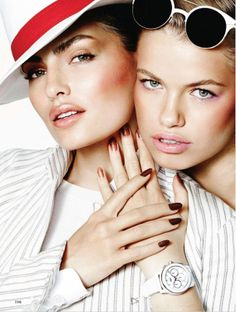 visual optimism; fashion editorials, shows, campaigns & more!: loud & clear: alyssa miller and hailey clauson by mario testino for allure ma...