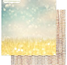 Papier double 30x30 'Webster's Pages' Field of Gold