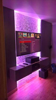 Wall mounted TV floating AV unit