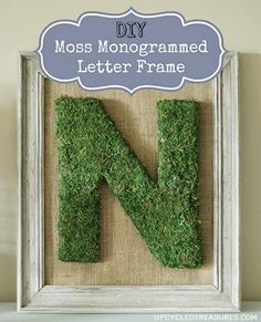 Moss Covered Letters Love Of Family & Home Diy Moss Covered Monogram Tutorial