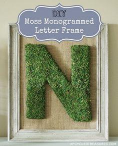 Moss Covered Letters Impressive Love Of Family & Home Diy Moss Covered Monogram Tutorial Inspiration Design