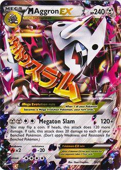 Pokemon Card Primal Clash Mega M Aggron EX Mint in Toys & Hobbies, Trading Card Games, Pokémon Mega Evolution Pokemon, Mega Pokemon, Pokemon Party, Pokemon Birthday, Cute Pokemon, Play Pokemon, Pokemon Stuff, 7th Birthday, Birthday Ideas