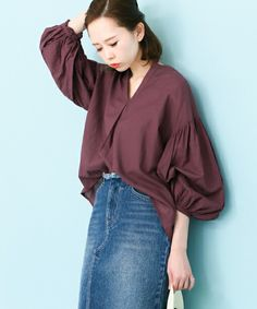 Fashion 2017, Daily Fashion, Fashion Outfits, Womens Fashion, Fashion Trends, Korea Dress, Fashion Details, Fashion Design, Blouse And Skirt