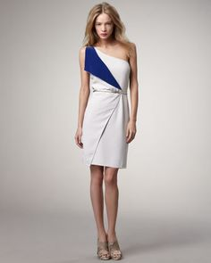 Kennedy Belted Contrast Dress by Sachin + Babi at Bergdorf Goodman.