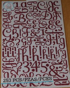 ONE Package of Large Pink Glitter Alphabet stickers for scrapbooking, cards and other paper crafts. Alphabet Stickers, Pink Glitter, Martha Stewart, Paper Crafts, Scrapbook, Awesome, Cards, Etsy, Tissue Paper Crafts