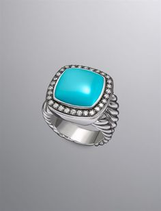 David Yurman turquoise and diamond ring. This needs to be in my jewelry box like now.
