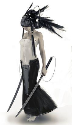 Cyberpunk warrior, alessandro rossi on ArtStation at https://www.artstation.com/artwork/93LOR