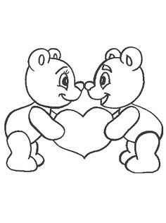 Dibujos de amor de osos