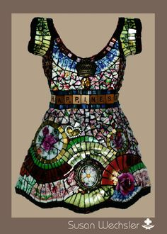 notecards 12 of my Mosaic Dresses blank by mosaicsbysusan on Etsy, $24.00