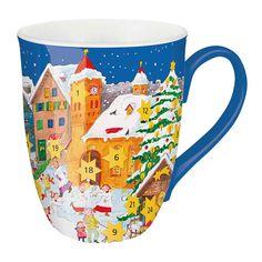 #Adventskalender #Rubbel-Tasse als originelles  #Geschenk zum #Advent