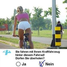 Dürfen sie dieses Fahrrad überholen