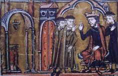 Balwin II ceding the Temple of Solomon to Hugues de Payns and Gaudefroy