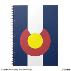Flag of Colorado Spiral Note Books