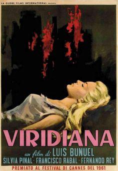 """""""Viridiana"""" (1961). País: España. Director: Luis Buñuel. Reparto: Silvia Pinal, Fernando Rey, Francisco Rabal, Margarita Lozano, José Calvo, Teresa Rabal, Luis Heredia, Victoria Zinny"""