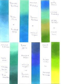 Cards by Maaike: Distress inks recipes for blended backgrounds