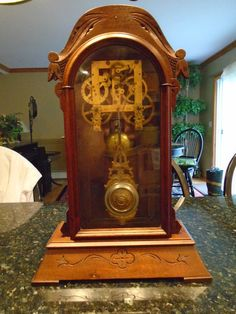 Rare Geo George B Owen Parlor Mantle Shelf Clock - 1880's For Parts