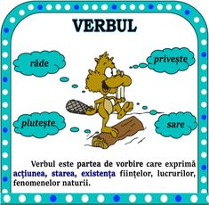 Verbul. Șotron cu verbe și alte idei, materiale pentru verb Romanian Language, Kids Education, My Children, Sunday School, Kids And Parenting, Grammar, Psychology, Kindergarten, Homeschool