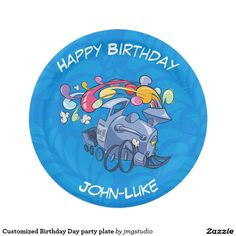 Customized Birthday Day party plate