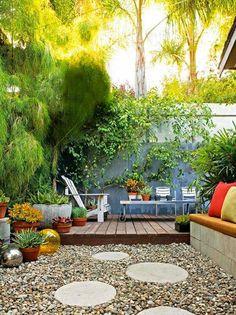 Kiesel Boden Belag Terrasse Garten