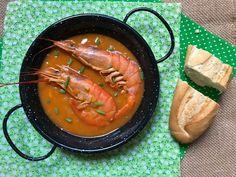 gambones a la marinera Canapes, Shrimp, Salsa, Cooking Recipes, Meat, Kitchen, Food, One Pot Dinners, Easy Food Recipes