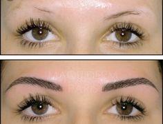 """Maquillage semi permanent des sourcils nanotechnologies (aiguilles nano pour construire des sourcils effet """" poil par poil """""""