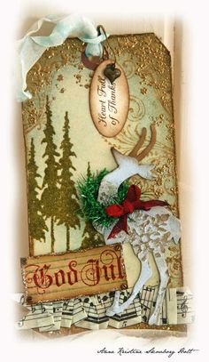Anne's paper fun: Tim Holtz : 12 tags of Christmas...day 6