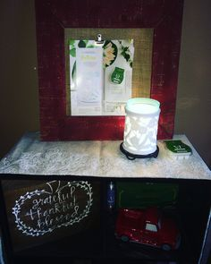 I just need a plant or bouquet there! I love decorating with Scentsy !
