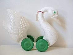 SWAN LAKE. french vintage swan toy. unusual and beautiful (c. 1950s)