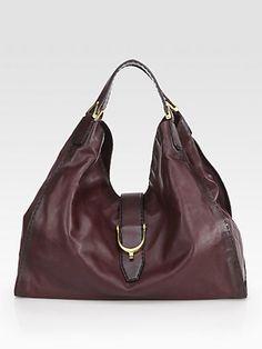 Gucci - Soft Stirrup Large Shoulder Bag/Burnished Leather - Saks.com