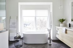 White Blinds, Interior Styling, Interior Design, Shades Blinds, Three Floor, Design Studio, Blinds For Windows, Clawfoot Bathtub, Office Decor