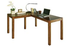 "Brown Lobink 60"" Home Office Desk by Ashley HomeStore"
