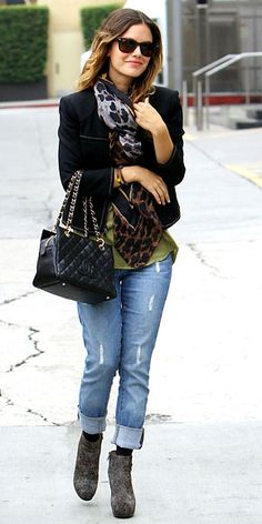 boyfriend jeans and booties...@Libby MG