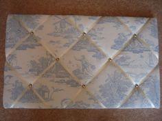 Laura Ashley Blue Toile Fabric Memo Board #wowthankyou
